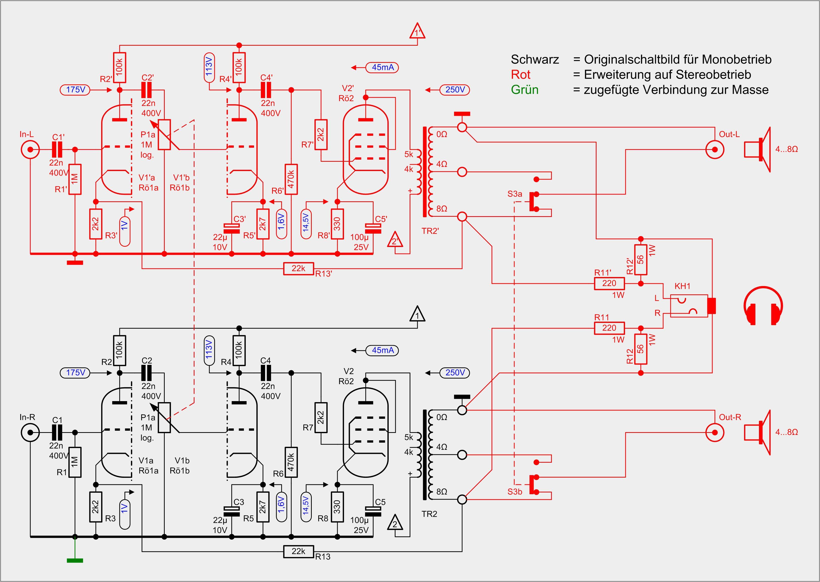 Nett Kopfhöreranschluss Schaltplan Zeitgenössisch - Elektrische ...